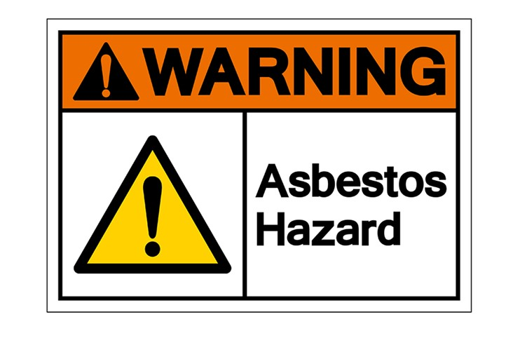 Asbesto Warning Sign